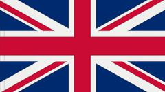 british flag textured - stock illustration