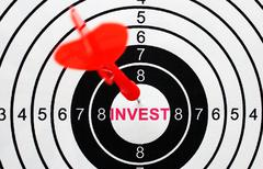 invest target concept - stock photo