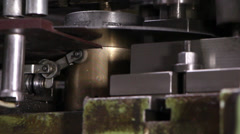 Heavy industry - NUT-sheet metal punch machine, mechanical press machine Stock Footage
