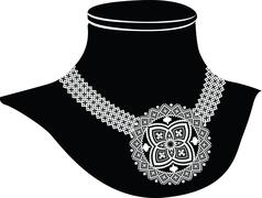 ancient necklace - stock illustration