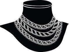 Stock Illustration of ancient necklace