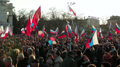 Peaceful march. Editorial - stock footage