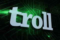 Troll against green and black circuit board Stock Illustration