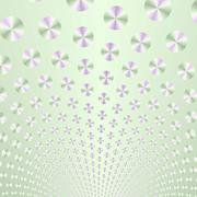 Green and Mauve Discs on Pale Green Stock Illustration