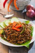 Mee goreng mamak, popular cusine in malaysia Stock Photos