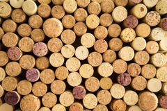 background texture of neatly arranged corks - stock photo