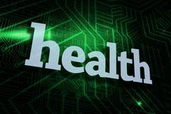 Health against green and black circuit board Stock Illustration