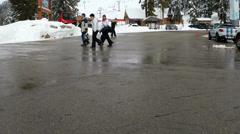 Cypress Bowl ski area, BC Canada Stock Footage