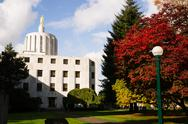 Stock Photo of state captial salem oregon government capital building downtown