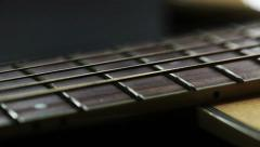 Guitar neck - close up - dolly shot; Stock Footage