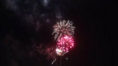 Fireworks no sound.mp4 Stock Footage