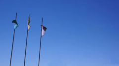 Flags Ragged Old Long Stock Footage