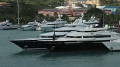 Luxury super yacht Alfa Nero St Thomas HD 0966 Stock Footage