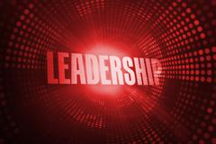 Leadership against red pixel spiral Stock Illustration