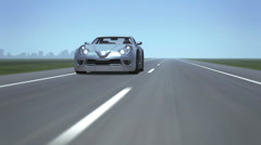 Sports Car on the road - stock footage