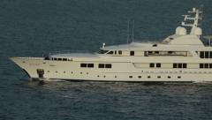 Super motor yacht Ocean Caribbean sea cruise HD 1021 Stock Footage