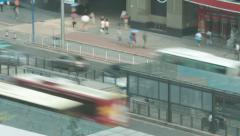 Lapse time city road Guangzhou cantone BRT Stock Footage