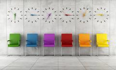 contemporary waiting room - stock illustration