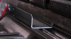 Heavy industry - Press Brake(abkantpresse) Stock Footage