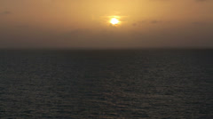 Brilliant sunset clouds over Caribbean Ocean HD 1032 - stock footage