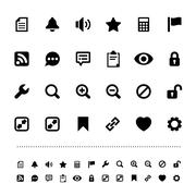 retina interface icon set - stock illustration