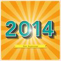 Stock Illustration of 2014 retro poster
