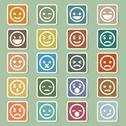 Stock Illustration of smiley faces icons set