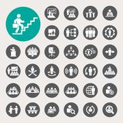 Business and management icons set Stock Illustration