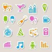 Stock Illustration of party and celebration icon set.