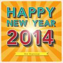 Stock Illustration of happy new year retro poster