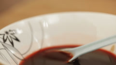 Jam and wine spread Stock Footage