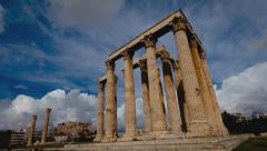 4K Olympeion timelapse Ancient Temple of Olympian Zeus Greece 2 30p - stock footage