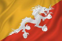 Bhutan flag Stock Photos