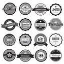 Stock Illustration of set of retro vintage badges and labels