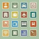 Stock Illustration of hotel and travel icon set