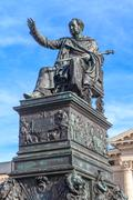 Munich, statue of king max joseph in front of bavarian state opera, germany Stock Photos