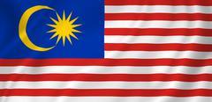 malaysia flag - stock photo