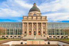 munich, bayerische staatskanzlei, bavarian state chancellery, germany - stock photo