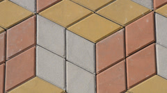 Sidewalk tile, sett of different colors Stock Footage