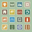 Stock Illustration of bicycle icons set