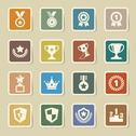 Stock Illustration of trophy and awards icons set
