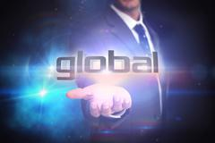 Global against black background with glowing light Stock Illustration