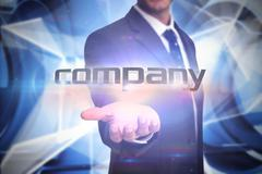 Stock Illustration of Company against white abstract angular design