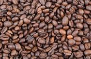 Stock Photo of agriculture, heap of coffee in closeup