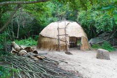 Native american wigwam hut Stock Photos