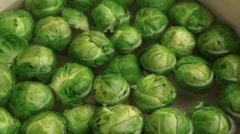 Brussels sprouts boiling; close up; Stock Footage
