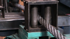 Heavy industry - steel rope, hawser Stock Footage