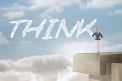 Think against balcony and bright sky Stock Illustration