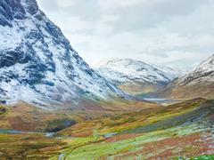 scottish highlands scenic at buachaille etive mor, glencoe, scotland - stock photo