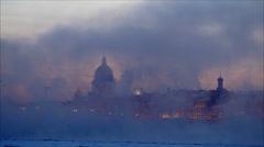 4k, Winter in Saint-Petersburg, Russia, 19 JAN 2013 time lapse Stock Footage